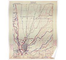 USGS TOPO Map California CA Yuba City 296615 1911 31680 geo Poster