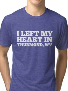 I Left My Heart In Thurmond, WV Love Native T-Shirt Tri-blend T-Shirt