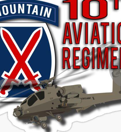 10th Aviation Regiment Apache Sticker