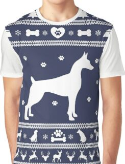 Christmas Great Dane Ugly Sweater Graphic T-Shirt