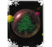 Christmas tree in space iPad Case/Skin