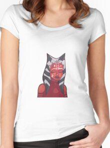 ahsoka tano artwork (version 2) Women's Fitted Scoop T-Shirt
