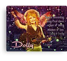 Christmas Angel Dolly Parton  Canvas Print