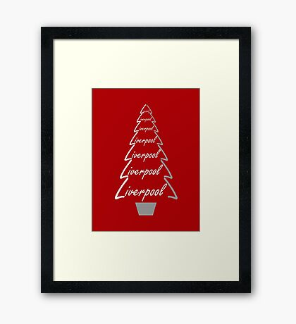 Liverpool Christmas Gifts & Clothes Framed Print