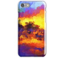 sunset sunrise abstract impressionist bright  iPhone Case/Skin