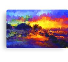 sunset sunrise abstract impressionist bright  Canvas Print