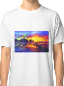 sunset sunrise abstract impressionist bright  Classic T-Shirt