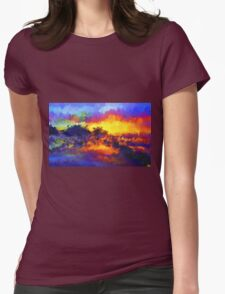 sunset sunrise abstract impressionist bright  T-Shirt