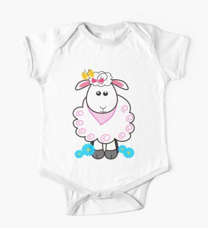 Cute sheep One Piece - Short Sleeve
