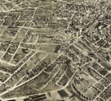 Aerial View of Bristol, Virginia/Tennessee (1912) Sticker