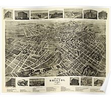 Aerial View of Bristol, Virginia/Tennessee (1912) Poster