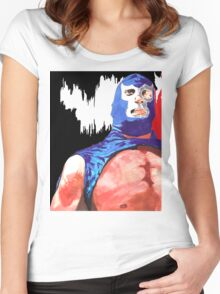 Blue Demon Jr.  Women's Fitted Scoop T-Shirt