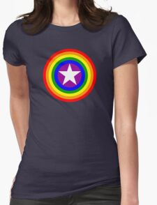 Pride Shields - Rainbow Womens Fitted T-Shirt
