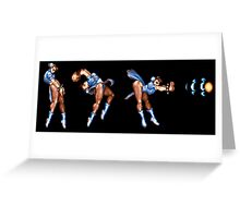 Chun Li Fireball Horizontal Greeting Card