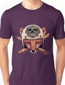 Fox Biker skull head Unisex T-Shirt