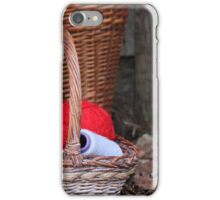 balls of wool in basket iPhone Case/Skin