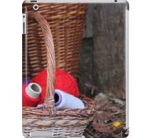 balls of wool in basket iPad Case/Skin
