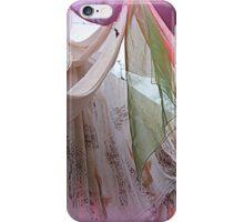 drapery of colored silks iPhone Case/Skin