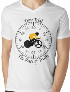 Time Trial - Race Against the Clock Mens V-Neck T-Shirt