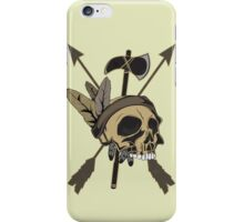 Indian Skull - Native American Skull with Feather and Arrows iPhone Case/Skin