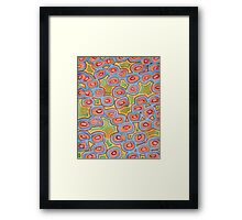 Pastel Colored Circles Pattern  Framed Print