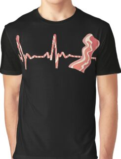 My Heart Beats For Bacon Graphic T-Shirt