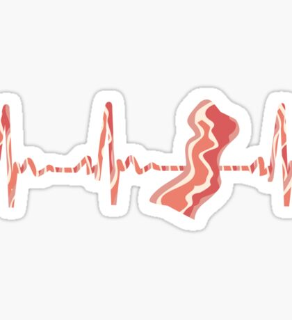 My Heart Beats For Bacon Sticker