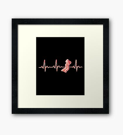 My Heart Beats For Bacon Framed Print