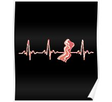 My Heart Beats For Bacon Poster