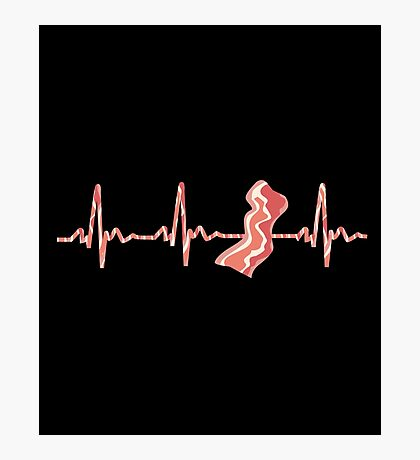 My Heart Beats For Bacon Photographic Print