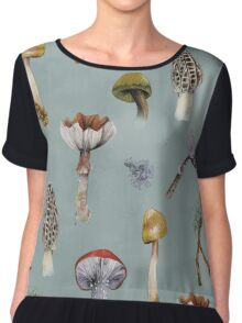 Mushroom Forest Collecting Party Women's Chiffon Top