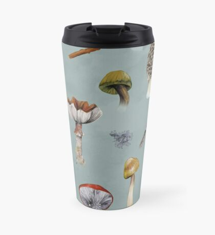 Mushroom Forest Collecting Party Travel Mug