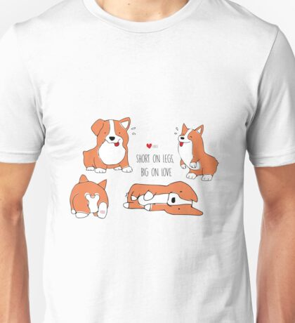 Corgi dog illustrated pattern Unisex T-Shirt