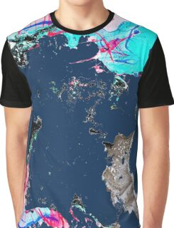 Marble Design No. 4 - dark blue Graphic T-Shirt