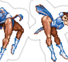 Chun Li Fireball Horizontal Sticker