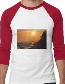 Sunrise at the seaside Men's Baseball ¾ T-Shirt