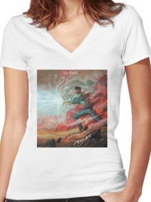 JON BELLION tour 2016 lukiluke LL enam Women's Fitted V-Neck T-Shirt
