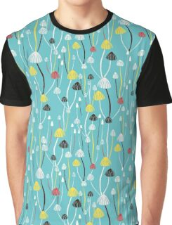 Blue mushrooms Graphic T-Shirt