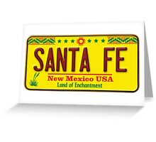 Santa Fe, New Mexico USA License Plate Greeting Card