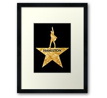 Hamilton Musical Quote Framed Print