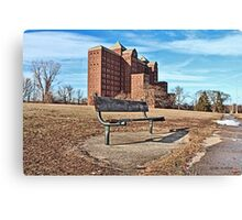 Forgotten Building and Bench Canvas Print