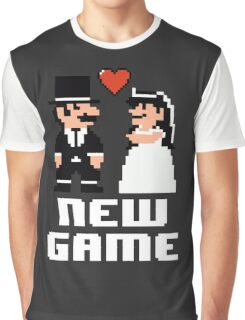 New Game - Newly Wed Gaming Couple Graphic T-Shirt