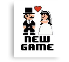 New Game - Newly Wed Gaming Couple Canvas Print