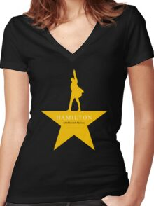 Hamilton Musical Quote Women's Fitted V-Neck T-Shirt