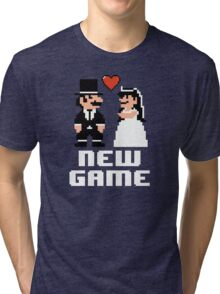 New Game - Newly Wed Gaming Couple Tri-blend T-Shirt