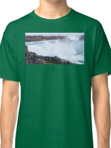 Niagara falls long exposure view on both United States and Canada Classic T-Shirt