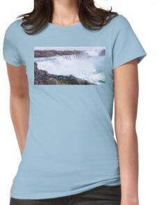 Niagara falls long exposure view on both United States and Canada Womens Fitted T-Shirt