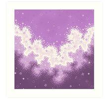 Lavender Chevron Pride Flag Galaxy Art Print