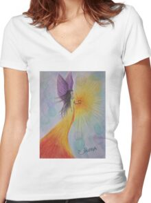 Angel of Love Women's Fitted V-Neck T-Shirt