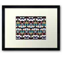 Colorful Abstract Weave Pattern Framed Print